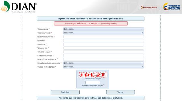 Agendamiento de citas web dian follar ahora mismo Cartagena-44195