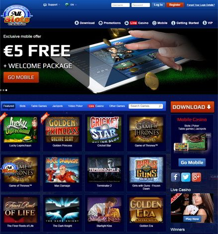 All slots casino 500 giros gratis revisión-80479