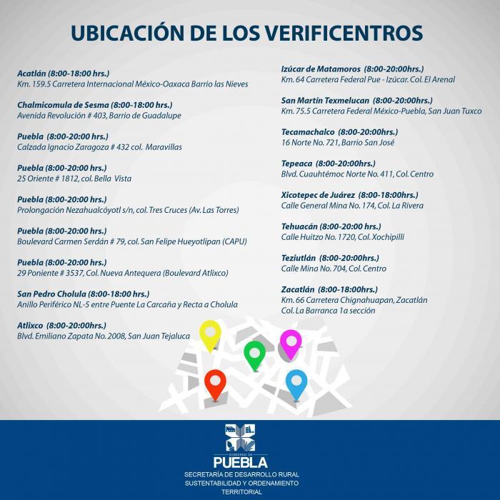Cita para la verificación en Puebla, ahora por internet