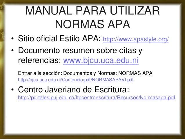 Citas de documentos web coman el chocho Oviedo-20686