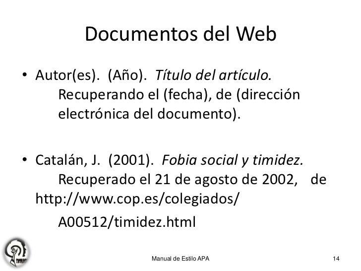 Citas de paginas web en formato apa hombre para mujer Telde-39161