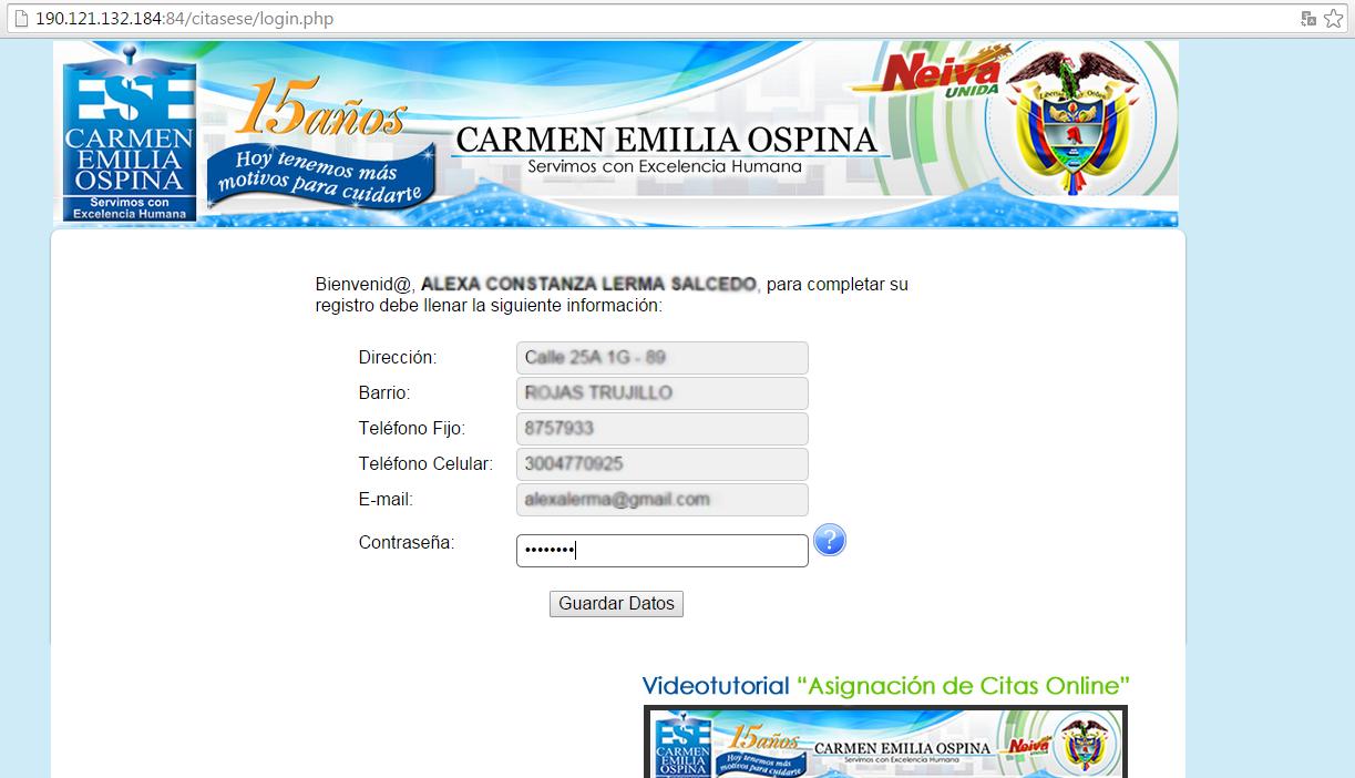 Citas en linea carmen emilia ospina sexo bien dotado Tarrasa-10837