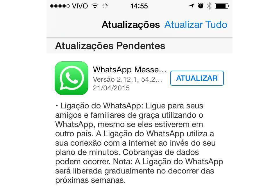 Como ligar gratis pelo whatsapp no iphone euros vídeos João Pessoa-99530