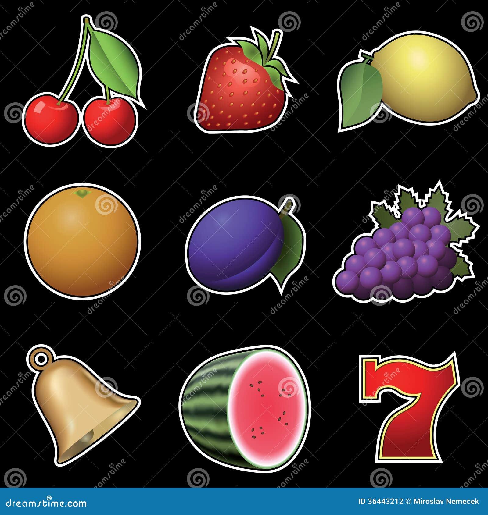 La máquina de la fruta de negocios conta-85538